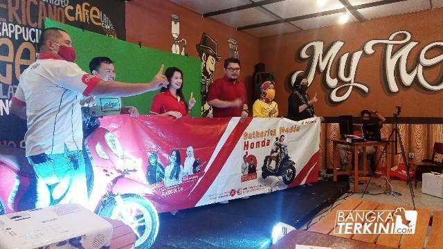 Gathering Media dan Virtual Launching Produk Honda, Sabtu (21/11/2020).