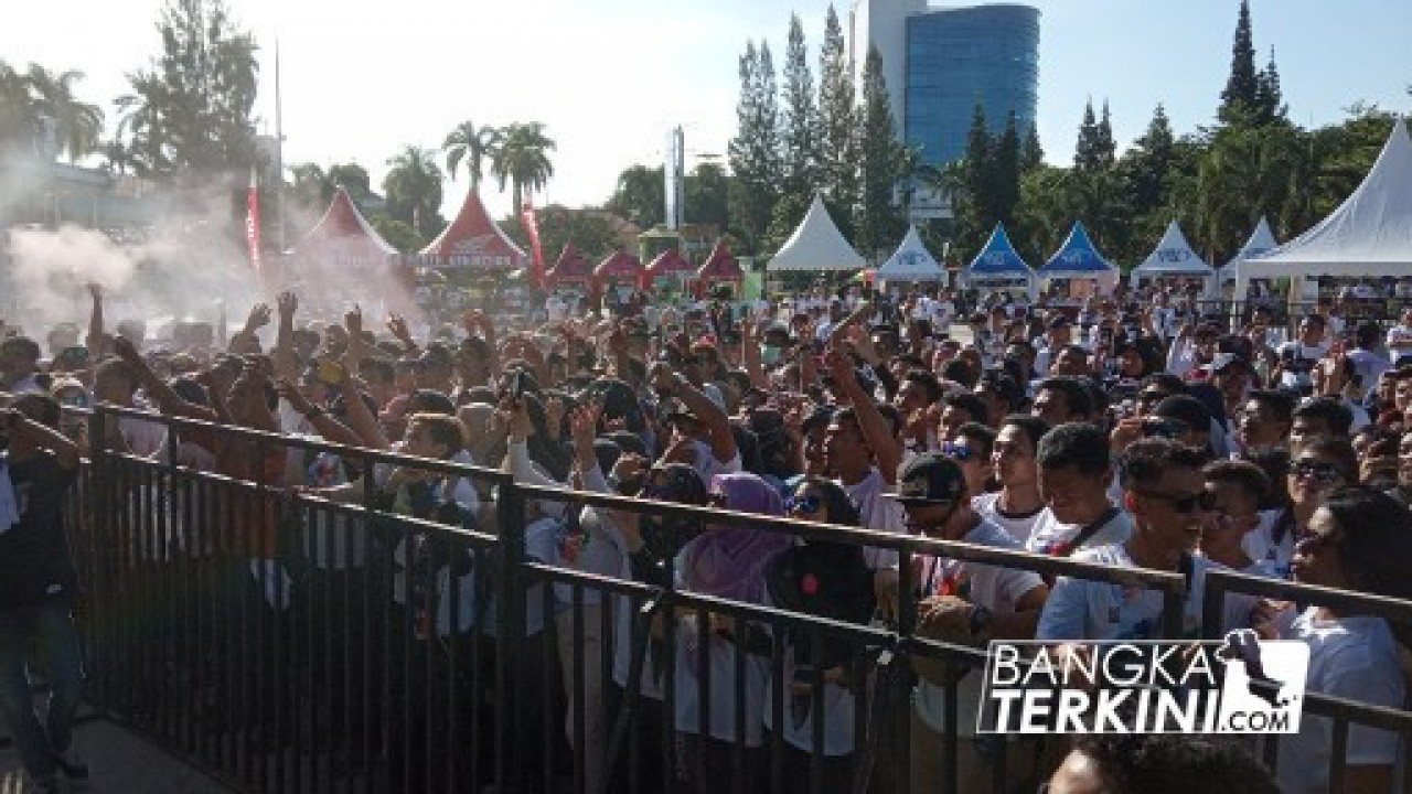 Kolaborasi Dengan Event In Babel, Ribuan Peserta Ramaikan Indonesia Color Run di Pangkalpinang